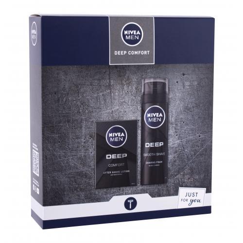 Nivea Men Deep Comfort darčeková kazeta pre mužov voda po holení 100 ml + pena na holenie 200 ml