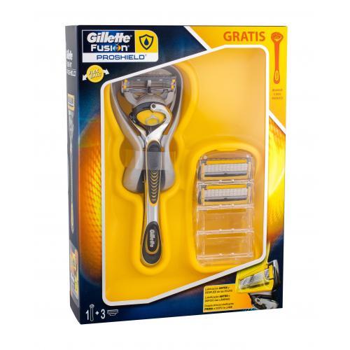 Gillette Fusion Proshield darčeková kazeta pre mužov holiaci strojček s jednou hlavicou 1 ks + náhradná hlavica 2 ks