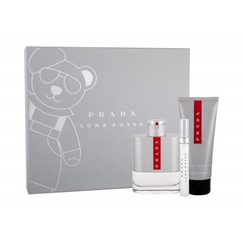 Prada Luna Rossa darčeková kazeta pre mužov toaletná voda 100 ml + toaletná voda 10 ml + sprchovací gél 100 ml