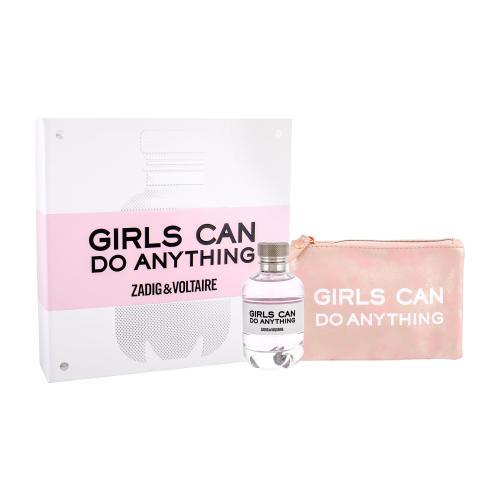 Zadig & Voltaire Girls Can Do Anything darčeková kazeta pre ženy parfumovaná voda 90 ml + kozmetická taška