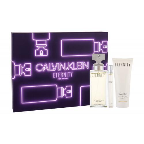 Calvin Klein Eternity darčeková kazeta pre ženy parfumovaná voda 100 ml + telové mlieko 100 ml + parfumovaná voda 10 ml