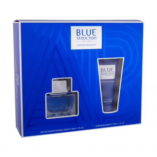 Antonio Banderas Blue Seduction For Men darčeková kazeta pre mužov toaletná voda 50 ml + balzam po holení 50 ml