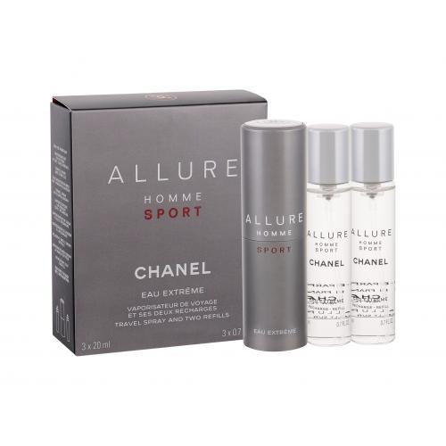Chanel Allure Homme Sport Eau Extreme 3x20 ml toaletná voda Twist and Spray poškodená krabička pre mužov miniatura