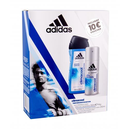 Adidas Climacool 48H darčeková kazeta deospray pre mužov Anti-perspirant 150 ml + sprchovací gél 250 ml