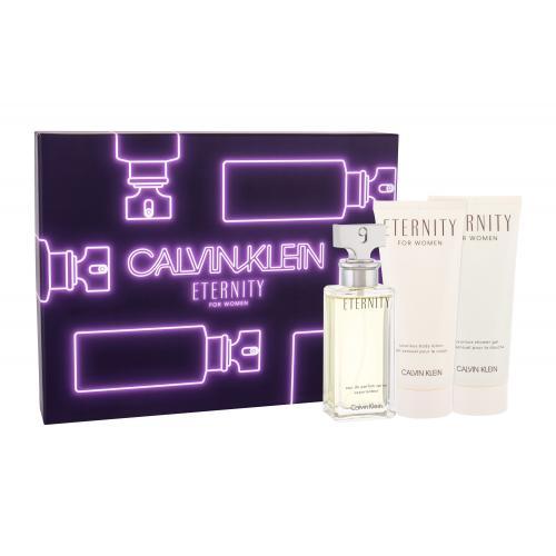 Calvin Klein Eternity darčeková kazeta pre ženy parfumovaná voda 50 ml + telové mlieko 100 ml + sprchovací gél 100 ml