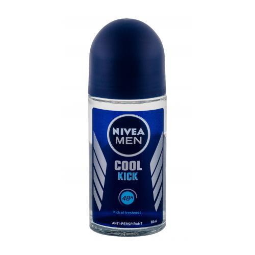 Nivea Men Cool Kick 48h 50 ml guľôčkový antiperspirant s chladivým účinkom pre mužov