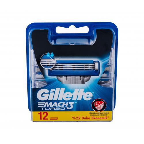 Gillette Mach3 Turbo 12 ks náhradné ostrie pre mužov