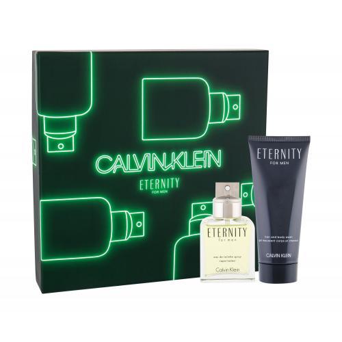 Calvin Klein Eternity For Men darčeková kazeta pre mužov toaletná voda 50 ml + sprchovací gél 100 ml