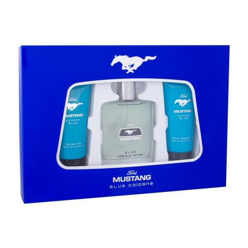 Ford Mustang Mustang Blue darčeková kazeta pre mužov toaletná voda 100 ml + sprchovací gél 100 ml + balzam po holení 100 ml