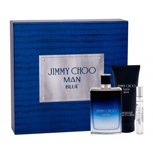 Jimmy Choo Jimmy Choo Man Blue darčeková kazeta pre mužov toaletná voda 100 ml + toaletná voda 7,5 ml + balzam po holení 100 ml
