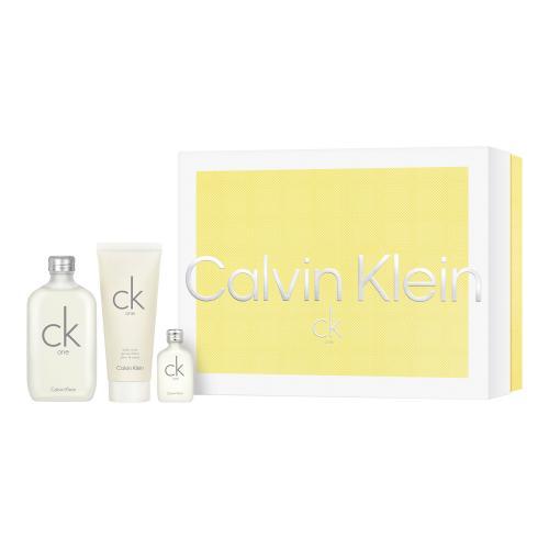 Calvin Klein CK One darčeková kazeta unisex toaletná voda 100 ml + toaletná voda 15 ml + sprchovací gél 100 ml
