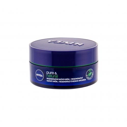 Nivea Pure & Natural Regenerating 50 ml regeneračný nočný krém pre ženy