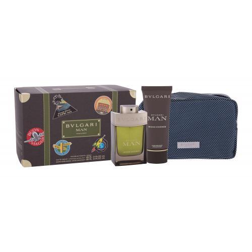Bvlgari MAN Wood Essence darčeková kazeta pre mužov parfumovaná voda 100 ml + balzam po holení 100 ml + kozmetická taška