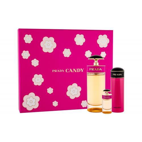 Prada Candy pre ženy parfumovaná voda 80 ml + parfumovaná voda 7 ml + telové mlieko 75 ml