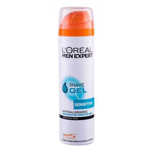 L´Oréal Paris Men Expert Sensitive 200 ml gél na holenie s aloe vera pre citlivú pleť pre mužov