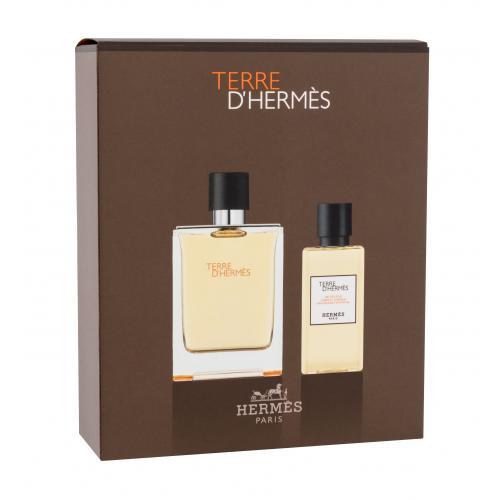 Hermes Terre d´Hermès darčeková kazeta pre mužov toaletná voda 100 ml + sprchovací gél 80 ml