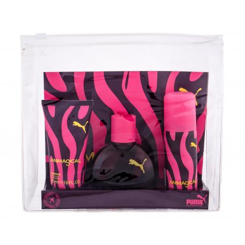 Puma Animagical Woman darčeková kazeta pre ženy toaletná voda 40 ml + sprchovací gél 50 ml + deospray 50 ml