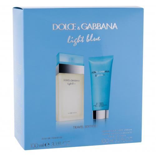 Dolce&Gabbana Light Blue pre ženy toaletná voda 100 ml + telový krém 100 ml