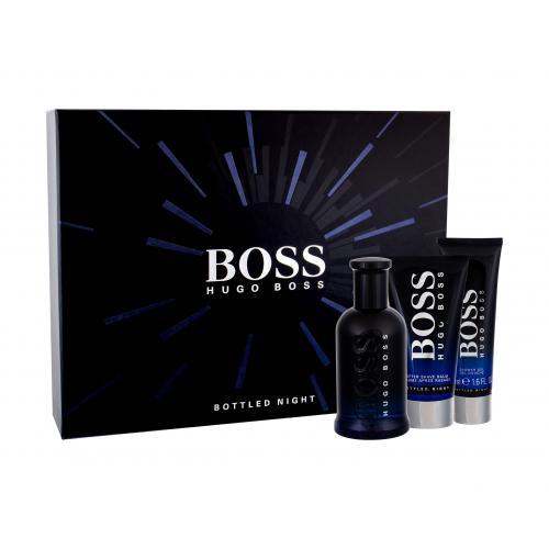 HUGO BOSS Boss Bottled Night darčeková kazeta pre mužov toaletná voda 100 ml + balzam po holení 75 ml + sprchovací gél 50 ml