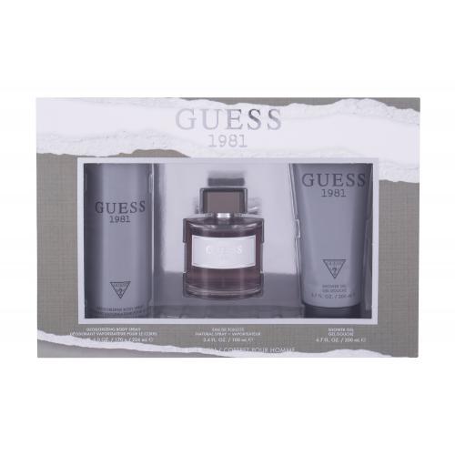 GUESS Guess 1981 darčeková kazeta pre mužov toaletná voda 100 ml + sprchovací gél 200 ml + dezodorant 226 ml