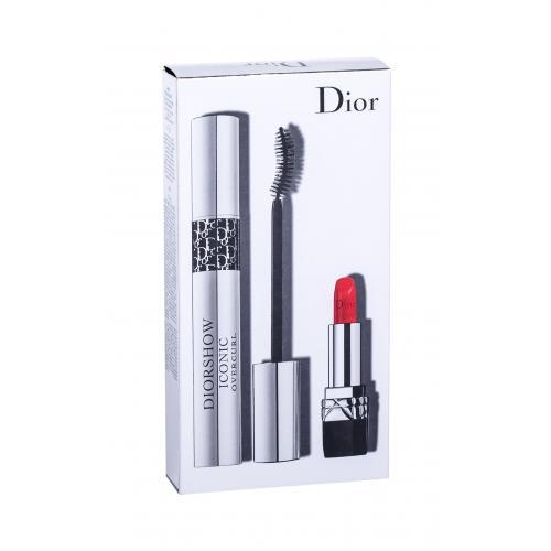 Christian Dior Diorshow Iconic Overcurl pre ženy riasenka 10 ml + rúž Mini Rouge 999 1,5 g 090 Over Black