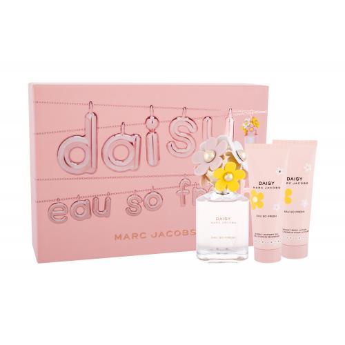 Marc Jacobs Daisy Eau So Fresh darčeková kazeta pre ženy toaletná voda 75 ml + telové mlieko 75 ml + sprchovací gél 75 ml