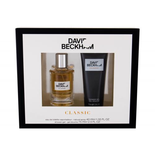 David Beckham Classic darčeková kazeta pre mužov toaletná voda 40 ml + sprchovací gél 75 ml