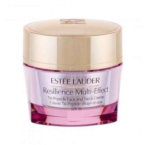Estée Lauder Resilience Multi-Effect Tri-Peptide Face and Neck SPF15 50 ml vyživujúci krém na tvár a dekolt pre suchú pleť poškodená krabička pre ženy