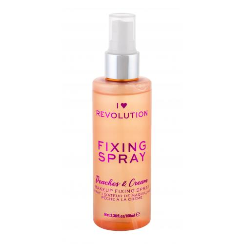 Makeup Revolution London I Heart Revolution Fixing Spray Peaches  Cream 100 ml fixačný sprej na make-up pre ženy