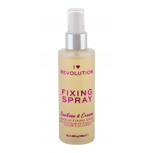 Makeup Revolution London I Heart Revolution Fixing Spray Cookies  Cream 100 ml fixačný sprej na make-up pre ženy
