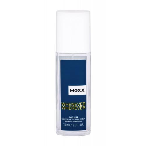 Mexx Whenever Wherever 75 ml dezodorant s rozprašovačom pre mužov