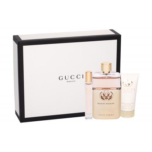 Gucci Gucci Guilty pre ženy parfumovaná voda 90 ml + telové mlieko 50 ml + toaletná voda 7,4 ml