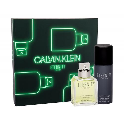 Calvin Klein Eternity For Men darčeková kazeta pre mužov toaletná voda 100 ml + dezodorant 150 ml