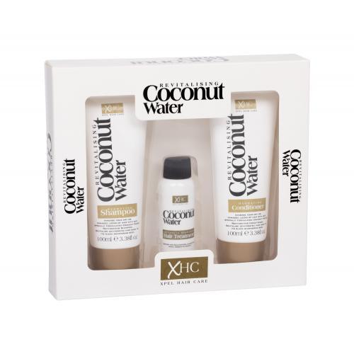 Xpel Coconut Water darčeková kazeta pre ženy šampón 100 ml + kondicionér 100 ml + sérum na vlasy 30 ml