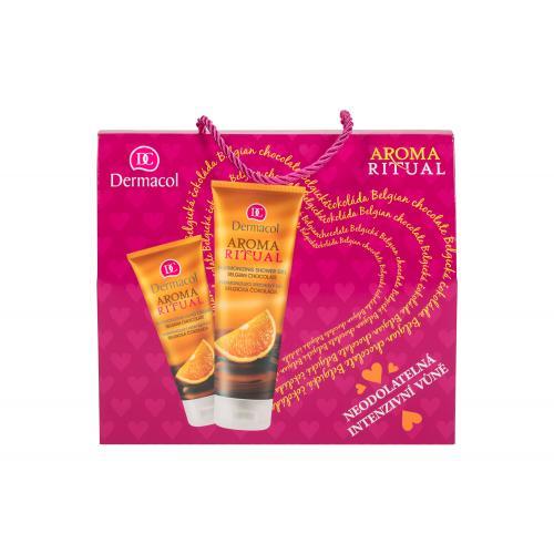 Dermacol Aroma Ritual Belgian Chocolate darčeková kazeta pre ženy sprchovací gél 250 ml + krém na ruky 100 ml