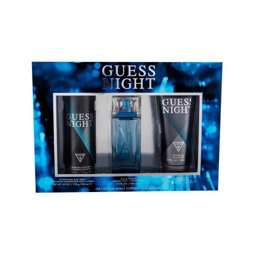 GUESS Night darčeková kazeta pre mužov toaletná voda 100 ml + dezodorant 226 ml + sprchovací gél 200 ml