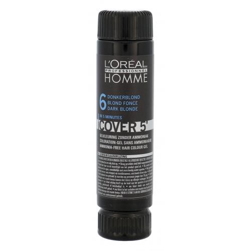 L´Oréal Professionnel Homme Cover 5´ 3x50 ml farba na vlasy pre mužov 6 Dark Blond