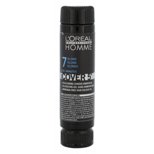 L´Oréal Professionnel Homme Cover 5´ 3x50 ml farba na vlasy pre mužov 7 Medium Blond