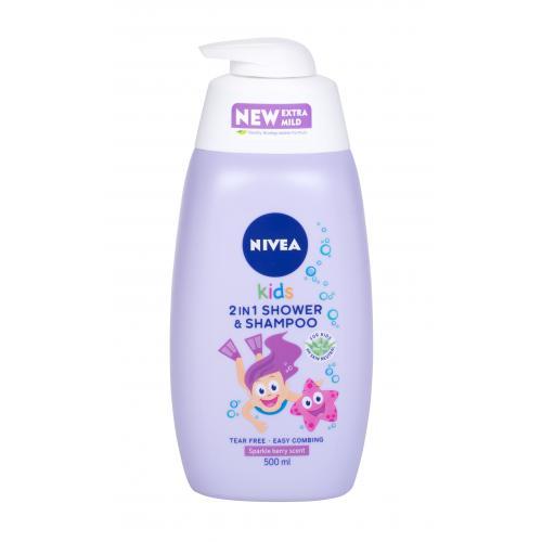 Nivea Kids 2in1 Shower & Shampoo 500 ml jemný sprchovací gél a šampón 2 v1 pre deti