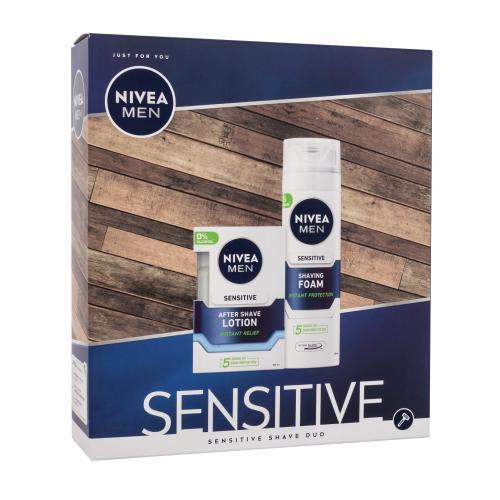 Nivea Men Sensitive Shave Kit darčeková kazeta pre mužov voda po holení 100 ml + pena na holenie 200 ml