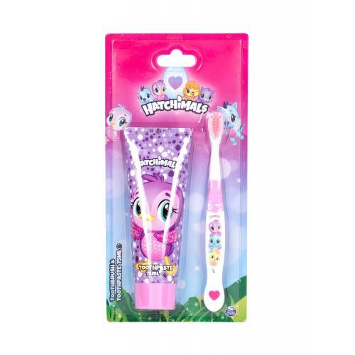 Hatchimals Hatchimals darčeková kazeta pre deti zubná kefka 1 ks + zubná pasta 75 ml