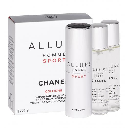 Chanel Allure Homme Sport Cologne 3x20 ml kolínska voda Twist and Spray pre mužov