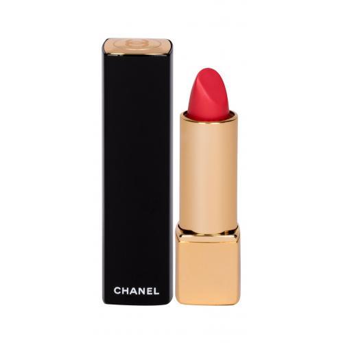 Chanel Rouge Allure Velvet 3,5 g rúž so zamatovým efektom poškodená krabička pre ženy 43 La Favorite