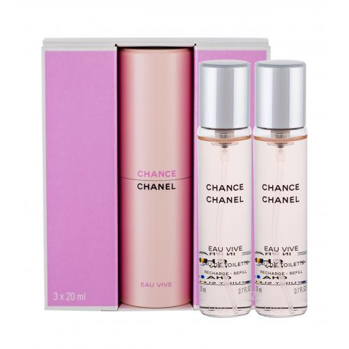 Chanel Chance Eau Vive 3x20 ml toaletná voda poškodená krabička pre ženy miniatura