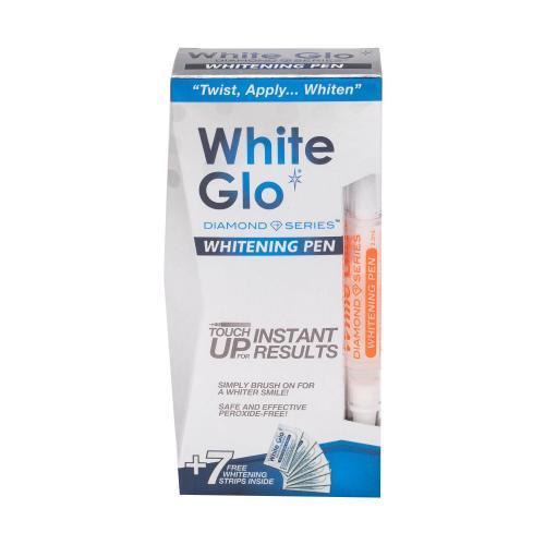 White Glo Diamond Series Whitening Pen sada pre ľahké a bezpečné bielenie zubov unisex bieliace pero 2,5 ml + bieliace pásky na zuby 7 ks