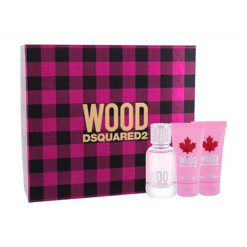 Dsquared2 Wood darčeková kazeta pre ženy toaletná voda 50 ml + telové mlieko 50 ml + sprchovací gél 50 ml