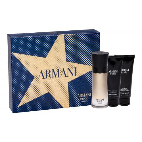 Giorgio Armani Code Absolu darčeková kazeta pre mužov parfumovaná voda 60 ml + sprchovací gél 75 ml + balzam po holení 75 ml