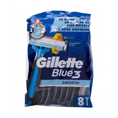 Gillette Blue3 Smooth 8 ks jednorázové žiletky pre mužov