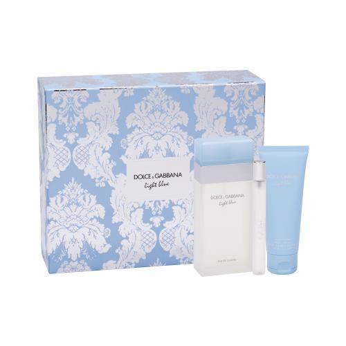 Dolce&Gabbana Light Blue darčeková kazeta pre ženy toaletná voda 100 ml + telový krém 75 ml + toaletná voda 10 ml