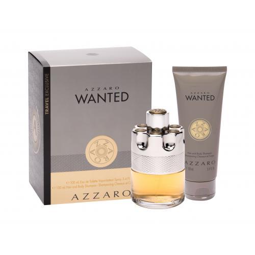 Azzaro Wanted darčeková kazeta toaletná voda 100 ml + sprchovací gél 100 ml pre mužov
